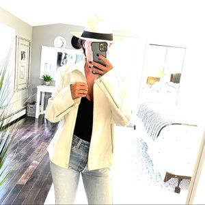 Sisley white jacket zip sleeve size 46 US 12